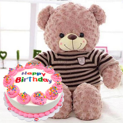 Cake 20cm and Teddy Bear (4mua VOT-006CAKEBEAR)