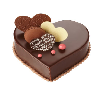 Chocolate Heart Cake for 8 persons (bonmua VOT-006H1)