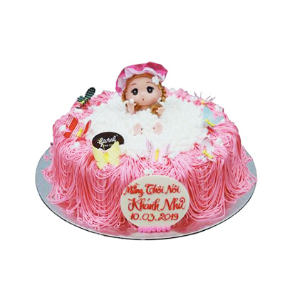 Birthday Baby Girl Cake 20cm / SaiGon only (4mua VOT-006TOPAN20HN229)