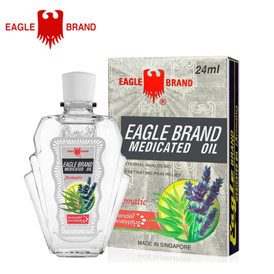Eagle Brand Medicated Oil External Analgesic - Aromatic-Lavender Eucalyptus / 24ml x 12 packs (4mụa VOT-017B1)