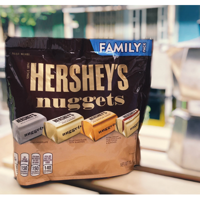 Hershey's Nuggets Chocolate Family Bag 442g. Made in USA (4mua VOT-CH03BAG442)