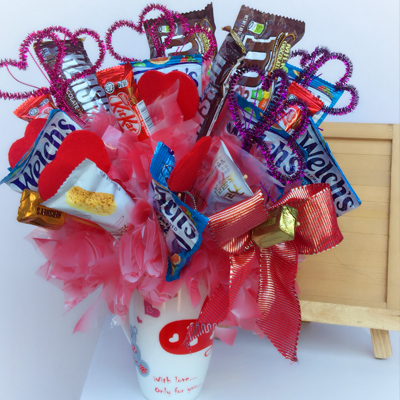Candy Bouquet in cup 18pcs (4mua VOT-CHBO1707)