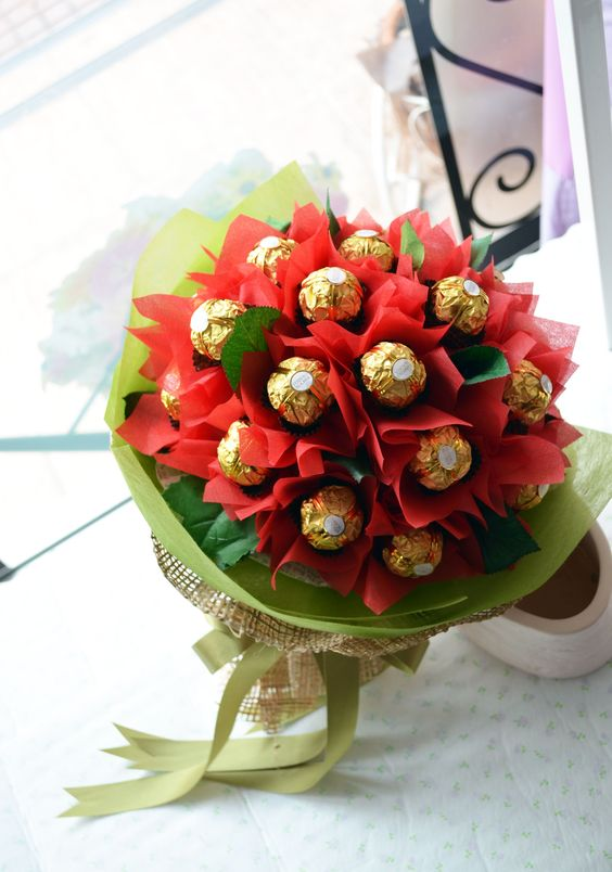 Ferrero Rocher chocolates bouquet Christmas 36pcs (4mua VOT-CHXMAS1703)
