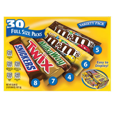 Mixed Chocolate variety 30 count (4mua VOT-MIXCH01)
