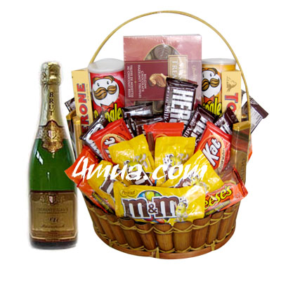 Chocolate Gift Basket with Champage (4mua VOT-CH06BAS1)