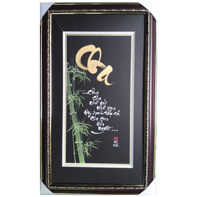 Calligraphy Wall Hanging on Father 35cmx60cm (bonmua VTP-FA03B)