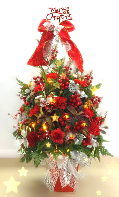 Christmas tree flower arrangement 90cm (4mua XMF-005C)